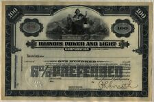Illinois Power & Light Corporation Stock Certificate