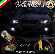 COPPIA LAMPADE FENDINEBBIA H11 LED CREE COB CANBUS BMW SERIE 3 E90 6000K