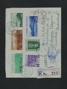Nystamps Japan National Park stamp on cover German WW II Reich Censor Rare y2ye