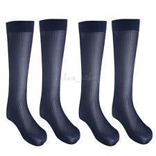 2 Pairs Men's Dress Socks Striped Thin Sheer Socks Breathable Business Men Socks