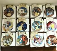 Beauty and the Beast Plate Collection Knowles Bradford Exchange Set of 12 COA