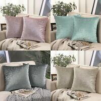 2x Cushion covers decorative sofa shimmer Christmas  silver foil printed covers