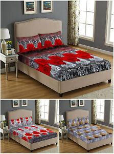 Teddy Polar Fleece Fitted Sheet Animal Printed Single Double King Bedding Sheets