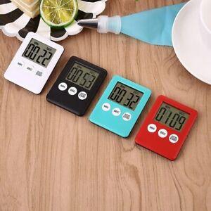 Slim Magnetic LCD Digital Kitchen Countdown Timer Cooking Multi Purpose Alarm