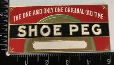 Shoe Peg Side Cigar Box Label Unused Embossed Lithograph Tobacco