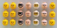 LEGO Heads. Lot of 21. Brand New! Lego minifigure heads.