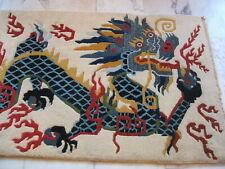 tibeter teppich drachen motiv drachenteppich nepal orient dragon rug tibetan old