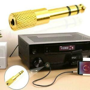 Stereo 6.35 Male To 3.5 Female Audio Adapter Stereo Converter. Headphone New