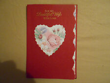 LOT OF 4 DAY SPRING EMBOSSED ANNIVERSARY-FOR WIFE GREETINGS CARDS