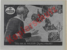 originale Hausser Elastolin Werbekarte Postkarte