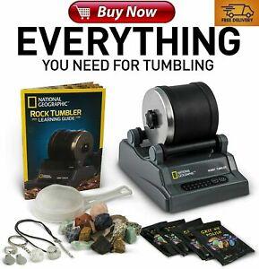 National Geographic Hobby Rock Tumbler Kit Authentic Stem AU *AUSTRALIAN PLUG*