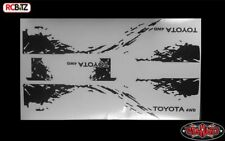 RC4WD Juguete sucio Rayas Mojave TF2 Decal Sticker Sheet Negro Logo Hilux Z-B0141