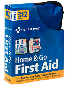 First Aid Only, Home & Go First Aid Kit, LARGE 312 Pieces CARRY POUCH  NEW 91081