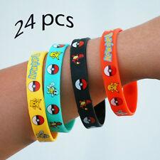 Pokemon Wristband Rubber Bracelet 24 Pieces PCS - Birthday Party Favors Supplies