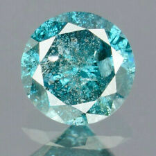0.20 Carats NATURAL Vivid Royal BLUE DIAMOND LOOSE for Setting Round with CERT