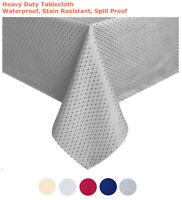 "Tektrum 60""X120"" Rectangular Waffle Tablecloth-Waterproof/Stain Resistant (Grey)"