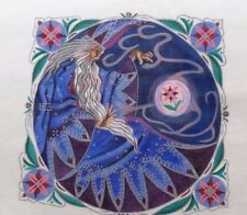 Liz / Susan Roberts Merlin the Magician Pillow Handpainted HP Needlepoint Canvas