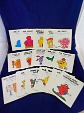 Lot of 16 Roger Hargreaves,Large Size,Mr. Men,Little Miss, LN;Neat,Happy,Tiny, +