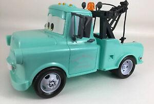 "Disney Cars Tow Mater Talking Blue 11"" Truck Wrecker Radiator Springs Mattel"