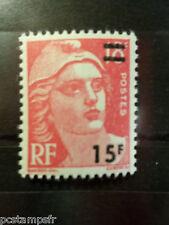 FRANCE - 1954, timbre 968, MARIANNE GANDON surchargé, neuf**