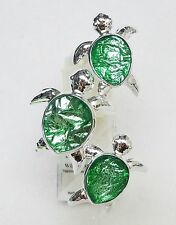1 BBW Wallflower GREEN GEM TURTLE TRIO Diffuser Unit Plug In Holder Girly