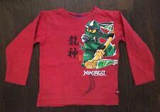 Pullover, Lego, Ninjago (grüner Ninja), Gr. 104, hellrot