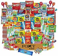 Foxy Fane 100ct Ultimate Snack Box - Variety of Crackers, Cookies, Candy & Chips