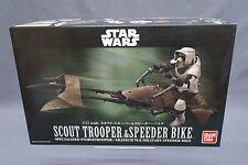 Star Wars Scout Trooper & Speeder Bike 1/12 scale Model kit Bandai Japan NEW ***