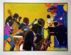 Romare Bearden Out Chorus 1978 Original Signed Print Color Etching