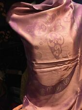 Vintage Style Pale Lavender Pink Butterfly Print Pashmina Fringed Wrap Shawl