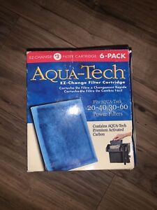 AQUA-TECH 6-PACK 20-40/30-60 FILTER CARTRIDGE FISH PREMIUM Activated Carbon HQ