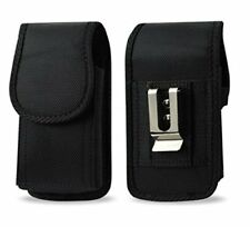 AGOZ Heavy Duty Rugged Belt Clip Loop Pouch Case With Lifeproof Cover on Phone