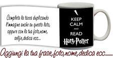 Tazza keep Calm and Read Harry Potter Personalizzata con nome,foto  ecc Idea reg