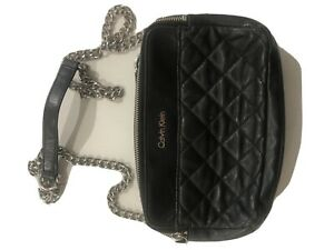 Black Quilted Bag By Calvin Klein