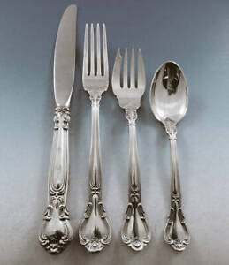 Gorham CHANTILLY Sterling Silver PLACE SIZE SETTING (s) 4 PIECE No Mono