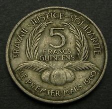 GUINEA 5 Francs 1962 - Copper/Nickel - F/VF - 3232