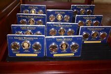 Complete Collection 1$ Presidential Coin Sets Box 10 Presidents Super