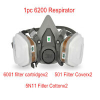 1Set New 7 in 1 Suit Half Face Paint Spraying Respirator F 3M 6200 N95 Gas Mask