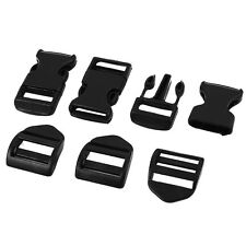 3Pcs Hard Plastic Luggage Backpack Band Quick Release Buckle Clip