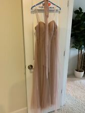Adrianna Papell soft pink blush bridesmaids dress size 2 convertible