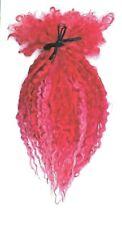 Teeswater Locks ~ XL 20-30cm ~ Red & Pink ~ spinning doll making needle felting