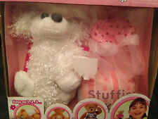 "Bear Works, Make Your Bear Kit, 6"" White Poodle w/Pink Sparkle Dress! New!"