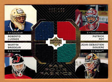 2007-08 , UPPER DECK , LUONGO-ROY-BRODEUR-GIGUERE , FAB FOUR FABRICS , /100