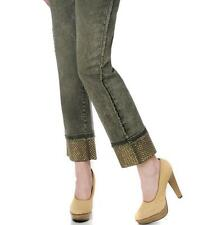 DG2 Distressed Stretch Denim Stud Cuff Jeans $69.90 LODEN GREEN 4T New with Tags