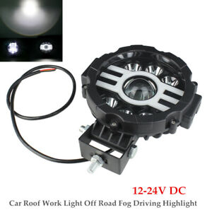 7inch 30W Round LED Car Roof Work Light Off Road Fog Driving Highlight Spotlight