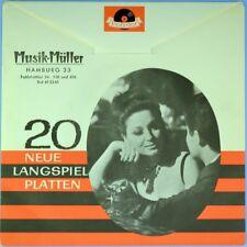 "7"" CONNIE FRANCIS, PETER ALEXANDER, FREDDY 20 Neue Langspielplatten POLYDOR 1962"