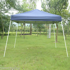 10'x10' Pop-Up Party Tent Outdoor Patio Gazebo Canopy Shelter W/ Carry Bag Blue