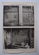 AIX ST JEAN TOMBEAU COMTES PROVENCE TARASCON ARCHITECTURE Sculpture PHOTO 1910