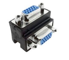 15Pin VGA SVGA Hembra a Hembra Ángulo Recto Conector Adaptador de extensión de 90 grados