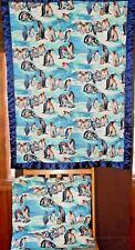 2pc Set Handmade Penguin Pillow & Crib Baby Security Blanket Quilt Nap Mat New
